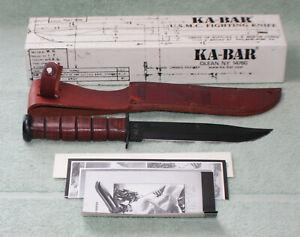 KA-BAR 02-9109 USMC PEARL HARBOR COMMEMORATIVE FIGHTING KNIFE - NIB