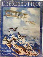 1919  L'AERONAUTIQUE NUMERO 1 HISTORIQUE 14-18 RAID TECHNIQUE ACCIDENTS APRES 18
