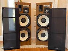 VTG Pair of Kenwood JL-865AV 3 Way 4-Speaker Stereo Floor Standing *AS-IS/*READ
