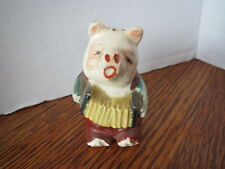 Pre-War VINTAGE Salt w/Cork Only PIG PLAYING THE CONCERTINA  Japan ADORABLE!