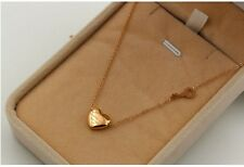 14K Rose Gold Stainless Steel Love Heart Letter Key Pendant Chain Necklace P16
