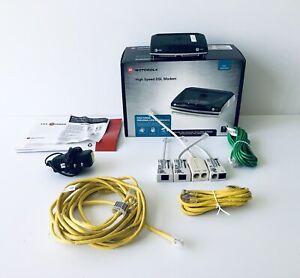 Used Motorola 3360 Black Silver Att Branded High Speed DSL Modem