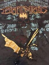Vintage Batman ALL OVER PRINT T-Shirt DC Original Men's Size XL Metallic Ink