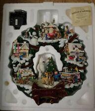 Hawthorne Village Rudolph's Christmas Town Illuminated Wreath