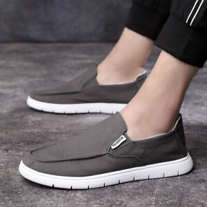 Man Canvas Driving Moccasins Flats Breathable Pumps Slip On Loafers Shoes New
