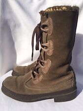 Vtg Leather Palons Rubber Sole Boots Made In Italy Women's US 6 EURO 37