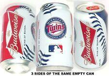 2012 MINNESOTA TWINS MLB MAJOR LEAGUE BASEBALL BUDWEISER BALL BEER CAN BUD SPORT