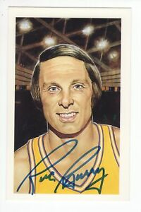 Rick Barry - Basketball Hall of Fame - Autographed Ron Lewis Postcard