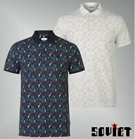 Mens Soviet Cotton Short Sleeves Paisley Polo Shirt Top Sizes from S to XXL