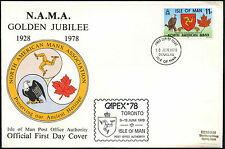 Isle Of Man 1978 Nama Golden Jubilee FDC First Day Cover #C41029