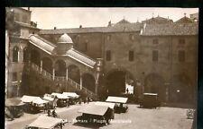 Cartolina Piazza Municipale Ferrara Animata Bici Mercato HE252
