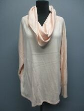 JOIE Light Pink Long Sleeves Cowl Neck Solid Causal Sweater Top Sz L EE4989