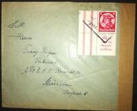 DR ZD Brief mit S 104; Mi: 140,00 #m717