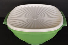 Tupperware Servalier Bowl 11-cups Green White One Touch Seal Rare New
