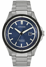 New Citizen Eco Drive Men's Super Titanium Bracelet Watch AW1450-89L