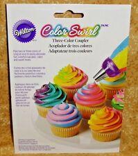 Color Swirl,Three Color Coupler System Set,Wilton,Plastic,White/Purple,411-