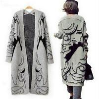 Fashion Casual Loose Sweaters Outwear Long Cardigan Jacket Coat Women Knitwear