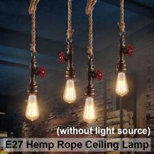 1M E27 Ampoule Plafonnier Lampe Rétro Vintage Industriel Lustre Corde Pendentif