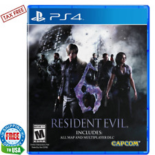 Resident Evil 6 PlayStation 4 Ps4 1 & 2 Player co-op Game play Offline & Online