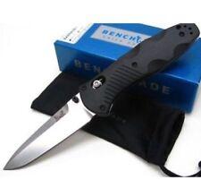 * -NEW- BENCHMADE BARRAGE BLACK HANDLE SATIN BLADE PLAIN EDGE KNIFE 580