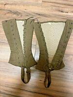 US WW1 Army Enlisted Leggings Puttees Gaiters Sz 2 // Amazing stitching