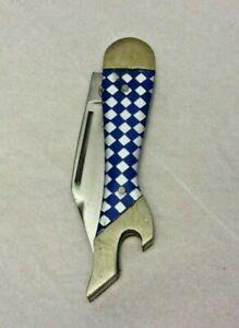 Vintage REMINGTON UMC Pocket Knife Lady Leg Boot Foot Sock Folding Blade