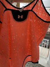 Ladies Gym Vest Under Armour Size Small 8-10 Neon Orange