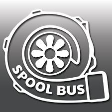 Turbo Spool Bus Car Window Bumper Boost Vinyl Decal Sticker JDM Dub Drift EURO