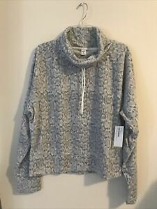 Old Navy Womens XL Tall Blue Active Go-Warm Pullover Fleece Sweater NWT! A854