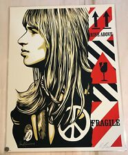 Shepard Fairey Fragile Peace poster Obey Giant  S/N silkscreen Jim Marshall mint