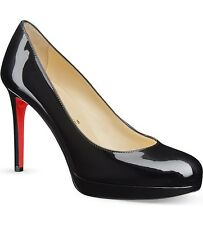 Christian Louboutin New Simple Pump 120 brevet talons Noir Court Heels UK 8 Eu41