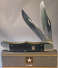 CASE XX U.S. Army Black Smooth Synthetic Folding Hunter Pocket Knife