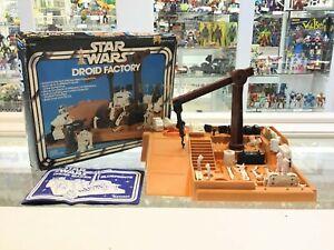ORIGINAL PARTS 1979 * Vintage Star Wars Droid Factory 4 blanc chevilles Qté