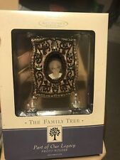 Hallmark Family Tree Photo Frame Chirstmas Ornament Part Of Our Legacy Beaded