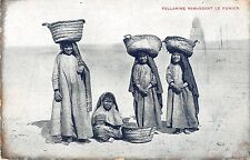 BR70531 fellahine ramassant le fumier types folklore costumes egypt africa