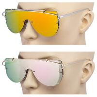 OVERSIZED Technologic Women Sunglasses Large Metal Frames Big Round Glasses XL