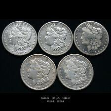 MORGAN SILVER DOLLAR COIN LOT (5 PIECE COIN COLLECTION) MIXED DATES
