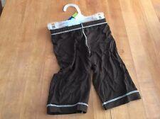 NWT Kicky Pants Boys Girls Brown Pants - Size Newborn NB - Bamboo