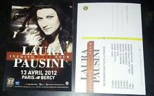 Laura Pausini inedito promo postcard France Paris 2012 official french