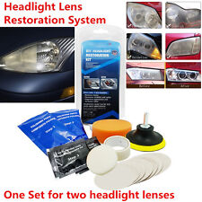 14pcs Headlight Lens Restoration System Restorer Kit Professional Polishing Tool