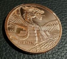 World of Dragons The Aztec 1 Oz Copper Round 2nd Quality
