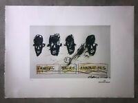 Jean-Michel Basquiat - Litografia - Famous Negro Athletes- 1981 - 250 ex.- 50x70