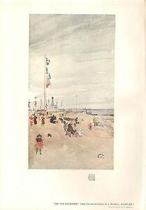 1903 Studio Aufdruck ~ auf Den Sea-Shore Von J.Mcneill Whistler