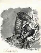 Portrait d'une jeune femme-Roger CHAPELAIN-MIDY-Signé A. Arches-Lin