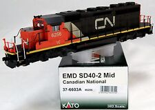 HO Scale EMD SD40-2 Mid Locomotive - Canadian National #6256 - KATO #37-6603A