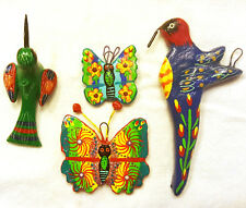Mexican Ornaments Set Butterflies & Hummingbirds - New - Great for Christmas!