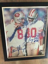 Steve Young And Jerry Rice autographed Photo