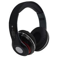 Foldable Wireless Bluetooth Headset Stereo Earphones Headphone Mic FM Radio New