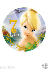 "Tinker Bell Disney Cake Topper Party Personalized Edible Wafer Paper 7.5"" img a6"
