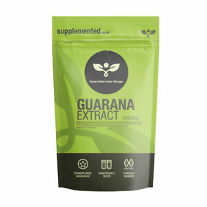 Guarana Extract 2000mg 180 Tablets Vegan Weight Loss Fatigue Energy